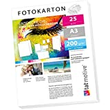 TATMOTIVE FA3200M25 Fotokarton Fotopapier 200g...